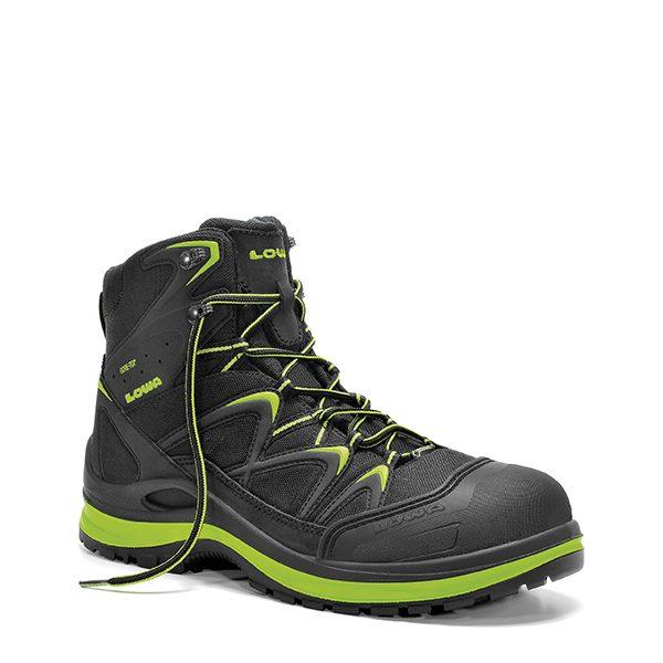 Stevige Werkschoenen.Lowa Werkschoen Innox Lime Colour Veiligheidsschoenen Hoge Schoen